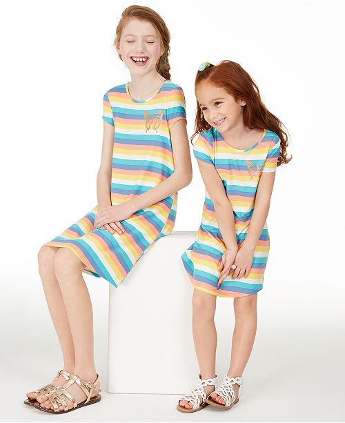 Epic Threads Epic Thread Little & Big Girls Rainbow Striped Dress Separates, Created for Macy's