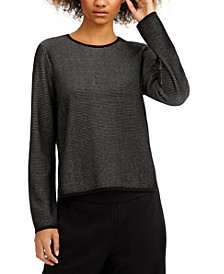 Textured Crewneck Top