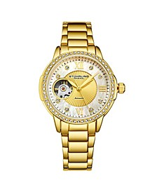 Women's Gold Tone Stainless Steel Bracelet Watch 36mm