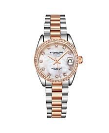 Women's Rose Gold - Silver Tone Stainless Steel Bracelet Watch 31mm