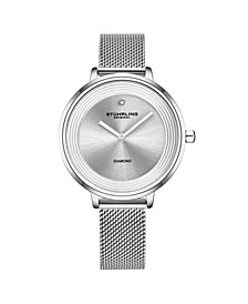 Women's Silver Tone Mesh Stainless Steel Bracelet Watch 37mm
