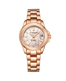 Women's Rose Gold Stainless Steel Bracelet Watch 32mm