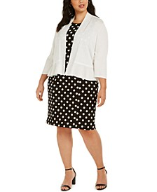 Polka-Dot Dress & Open-Front Cardigan