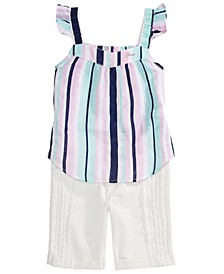 Big Girls Stripe Top and Bermuda Shorts Masterpage