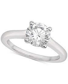 Certified Diamond Solitaire Engagement Ring (1-1/2 ct. t.w.) in 14k White Gold