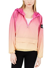 Ombré Water-Resistant Hooded Rain Jacket