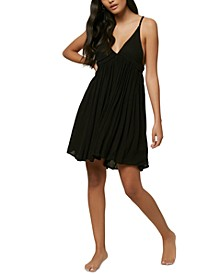 Juniors' Salt Water Solids Cover-Up Dress