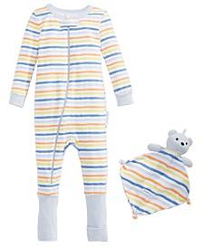 Baby Boys 2-Pc. Printed Pajama & Blankie Baby Set
