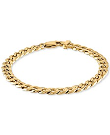 Curb Link Chain Bracelet in Yellow Ion-Plated Stainless Steel, Created for Macy's