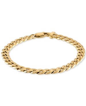 Curb Link Chain Bracelet in Yellow Ion-Plated Stainless Steel