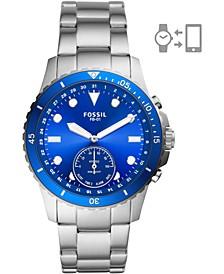 Tech Men's FB-01 Stainless Steel Bracelet Hybrid Smart Watch 42mm