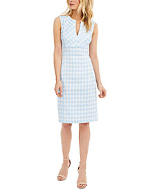 Calvin Klein Petite Millenium Houndstooth Sheath Dress