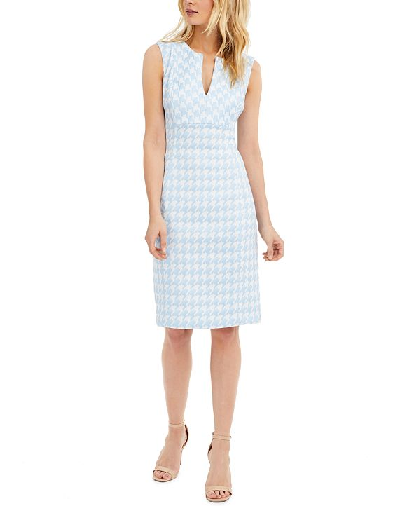 Calvin Klein Sleeveless Houndstooth Dress