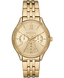 Women's Chronograph Gold-Tone Stainless Steel Bracelet Watch 39mm