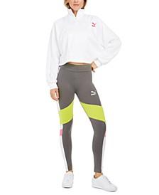 Half-Zip Cropped Top & Colorblocked Leggings