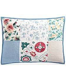 Country Flora Patchwork Standard Sham, Created for Macy's