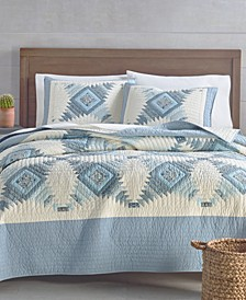 Artisan Bluebell Patchwork Reversible Full/Queen Quilt, Created for Macy's
