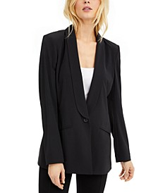 INC EARTH Longline Blazer, Created for Macy's