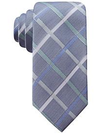 Men's Rompaey Check Slim Silk Tie, Created for Macy's