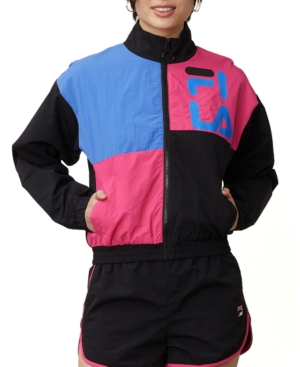 80s Windbreakers, Jackets, Coats Fila Rumi Colorblocked Windbreaker $80.00 AT vintagedancer.com