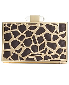INC Animal Print Cage Clutch, Created for Macy's