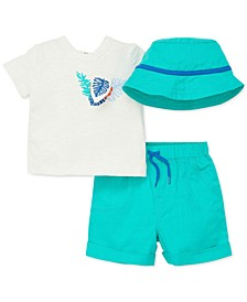 Baby Boys 3-Pc. Cotton Bucket Hat, T-Shirt & Shorts Set