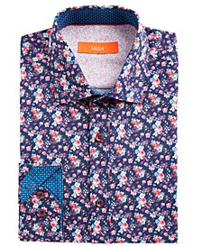 Men's Slim-Fit Performance Stretch Floral-Print Dress Shirt