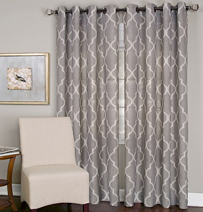 Elrene Medalia Window Treatment Collection - Easy Care Linen Look!