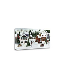 Christmas Valley Village by David Carter Brown Giclee on Gallery Wrap Canvas