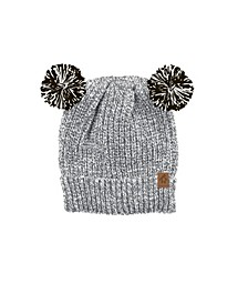 Baby Boys and Girls Double Pom Pom Hat