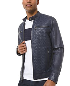 Men's Quilted Logo Racer Jacket