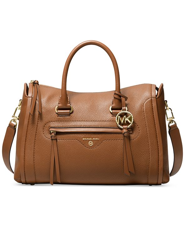 Michael Kors Carine Leather Medium Satchel
