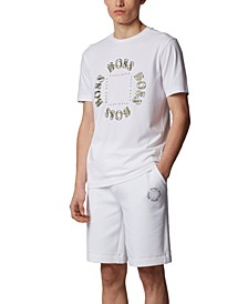 BOSS Men's Tee 5 Open White T-Shirt