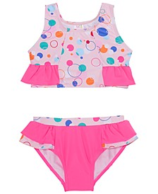 Toddler Girls 2-Pc. Ruffled Bubble Dot Tankini