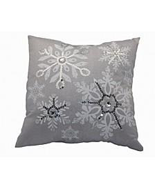 Glistening Snow Christmas Pillow