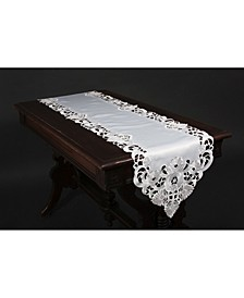 Delicate Lace Embroidered Cutwork Table Runner