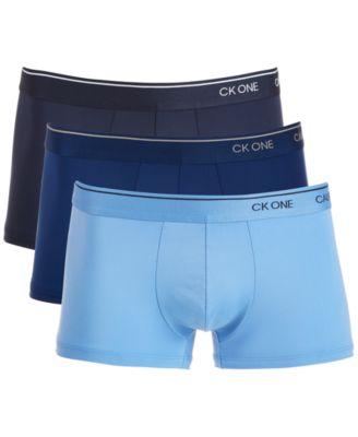 캘빈 클라인 Calvin Klein Mens CK One 3-Pk. Low-Rise Trunks