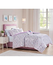 Aqua 7-Pc. Full Comforter Set