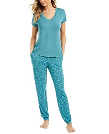T-Shirt & Jogger Pajama Separates Collection, Created for Macy's
