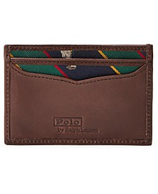 Men's Polo Bear Tie-Stripe Card Case