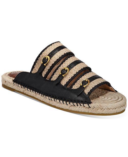 COACH Women's Devon Flat Sandals