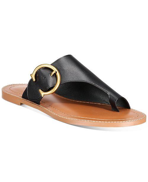COACH Women's Luca Leather Sandals