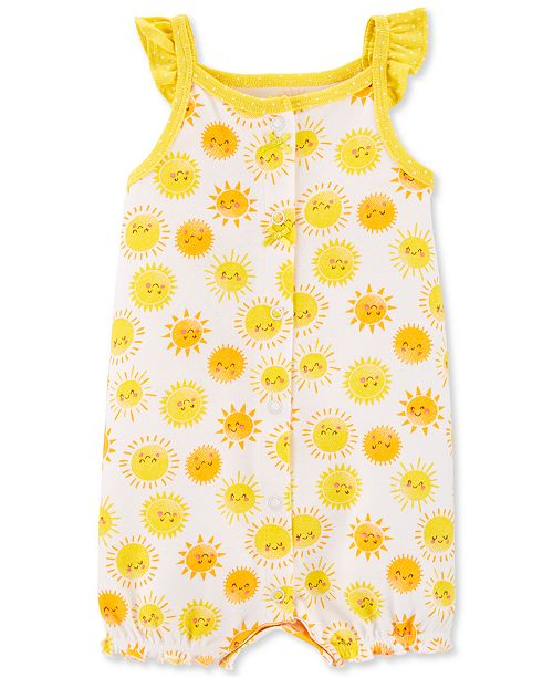Carter's Baby Girls Sunshine Cotton Romper