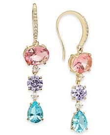 Glass Stone Triple Drop Earrings, Created for Macy's