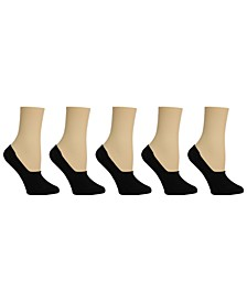 Women's Solid Foot Liner Socks, Pack of 5