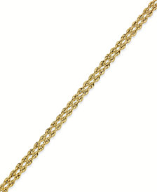 10k Gold Bracelet, Rope Bracelet