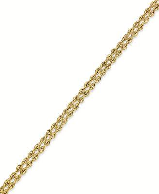 Macy S 10k Gold Bracelet Rope Bracelet Bracelets Jewelry