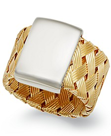 18k Gold over Sterling Silver Ring, Woven Ring