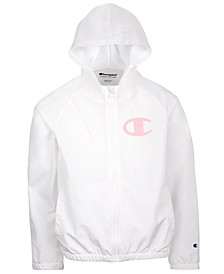 Big Girls Collegiate Ombré Logo Windbreaker