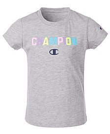 Little Girls Collegiate Ombré Logo T-Shirt